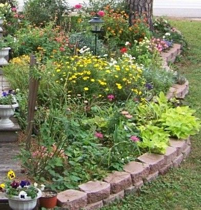 gardens: Flowers Gardens, Gardens Ideas, Perennials Gardens, Islands Beds, Landscape Gardens, Perennials Beds, Perennials Ideas, Landscape Ideas, Gardens Plants