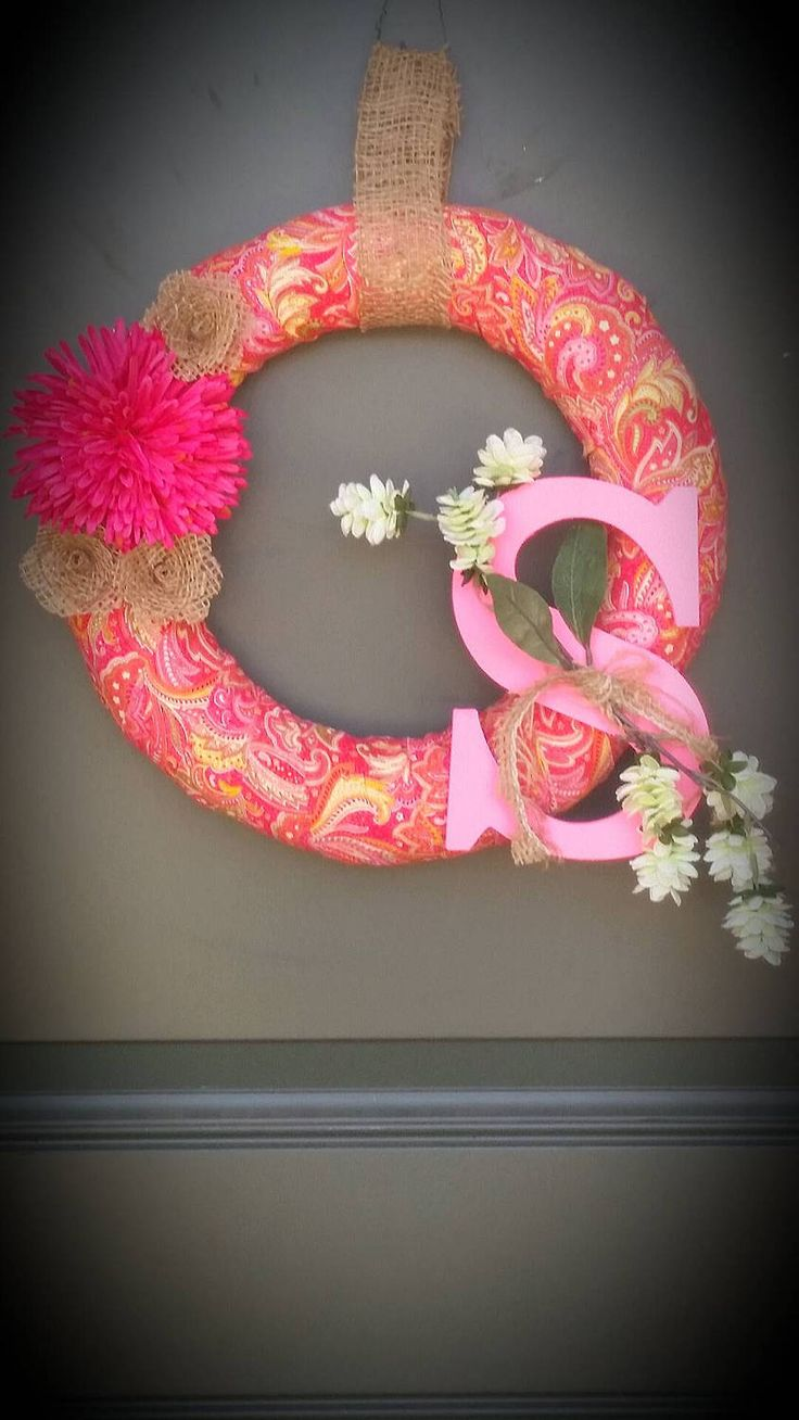 Bohemian Wreath / Bohemian / Front Door Wreath / Summer Wreath, Outdoor Decor /Front Porch / blingmybox / Monogram Wreath / Spring Decor