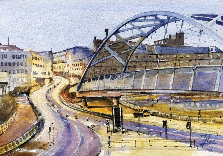 #Sheffield, #UK #Watercolour - 21cm x 30cm Jaroslaw Glod - http://www.artende.pl