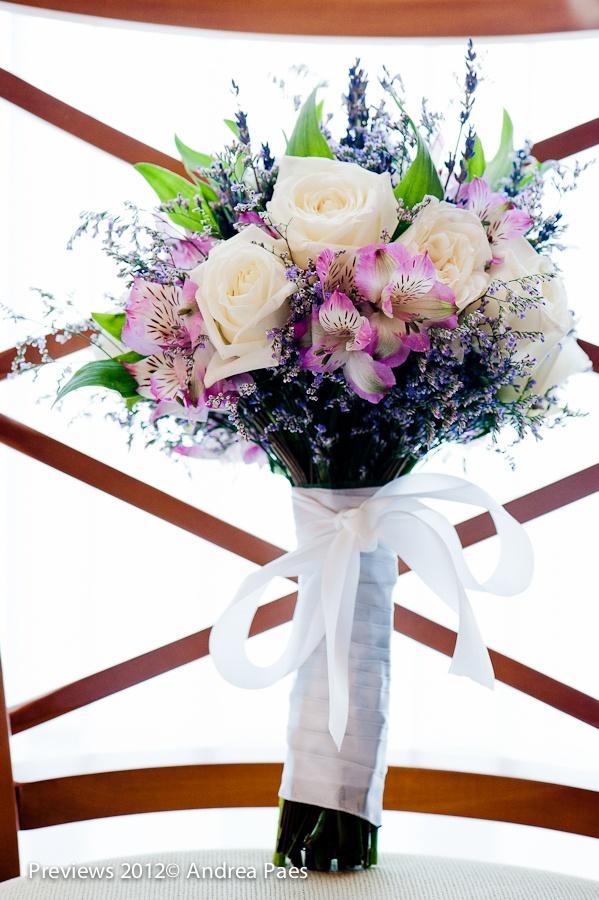 #bouquet rose, lavender, alstroemeria  (astromelia), bamboo