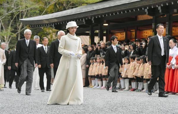 Princess Kako of Akishino visits Ise Shrine