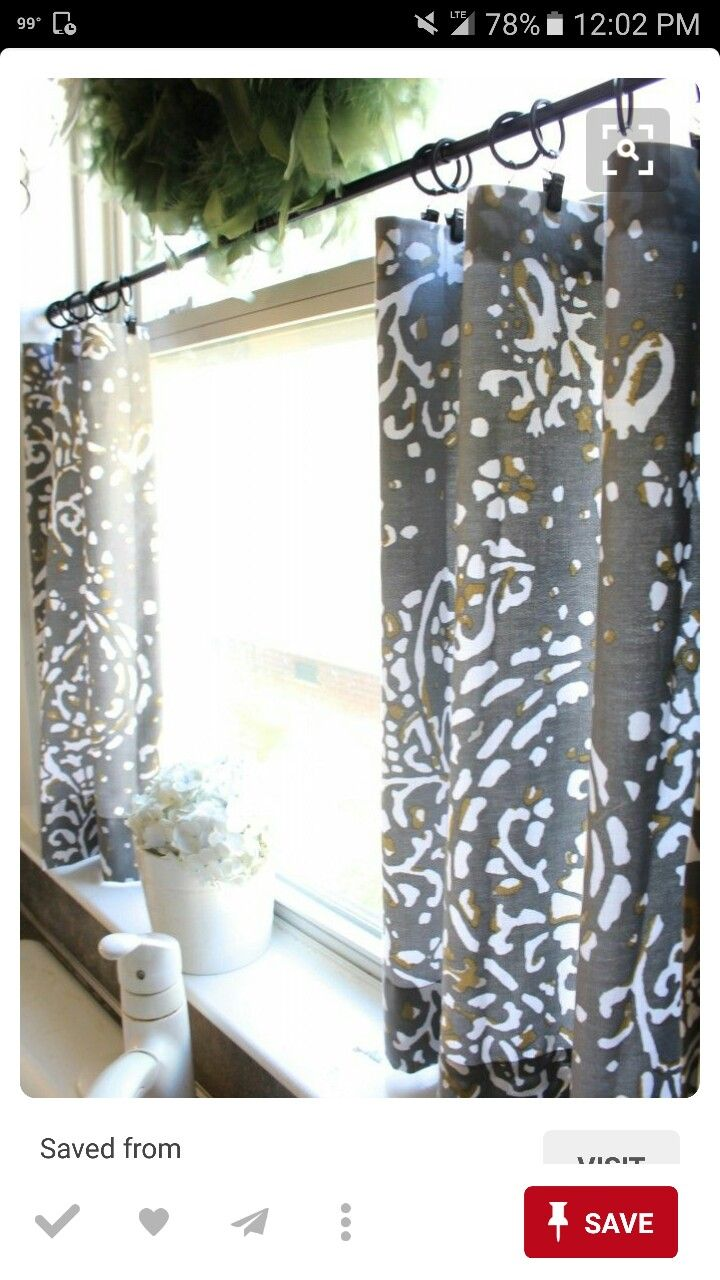 Diy copper curtain rods that wont break the bank diy how to window - Kitchen Window Curtains