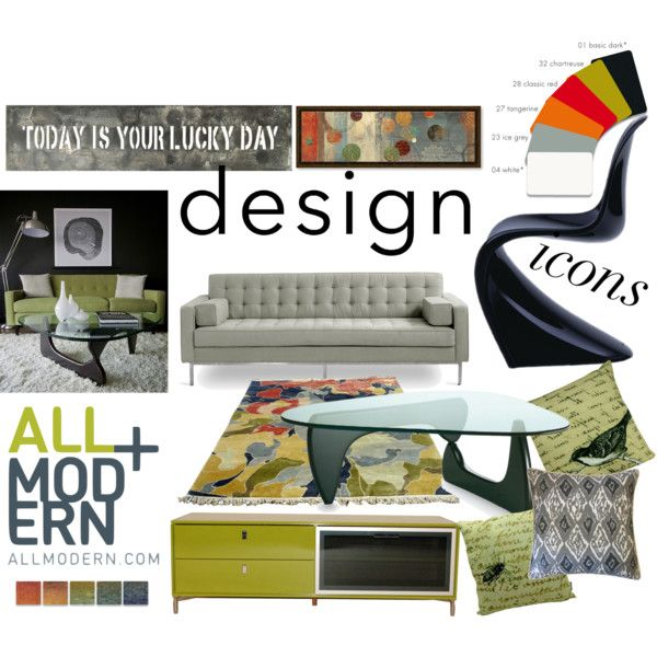 """Design Icons at AllModern"" by nionia on Polyvore"