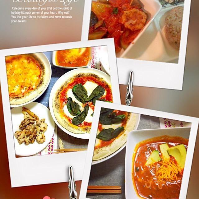 手作りpizza エンチラーダスープ カフェ風ご飯 - 7件のもぐもぐ - 今までの料理集① by amournature