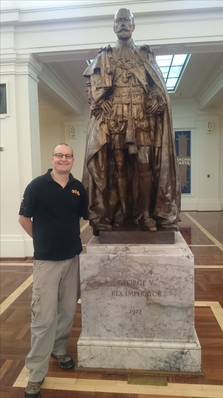 Me & George (King George that is) at Old Parliament House