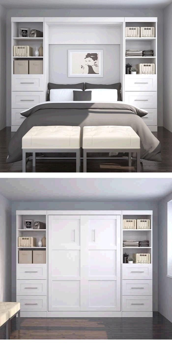 This Unit Is A Great Way To Organize And Sort Your Space So Everything You Need Is Easily Accessible We Small Guest Bedroom Diy Bedroom Storage Small Bedroom