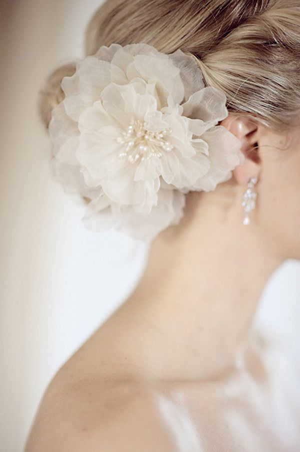 Silk Floral Hairpiece ~ Photography by annephoto.com. Bridal accessories.
