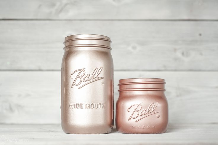 Valspar Rose Gold and Rustoleum Copper Metallic spray paint