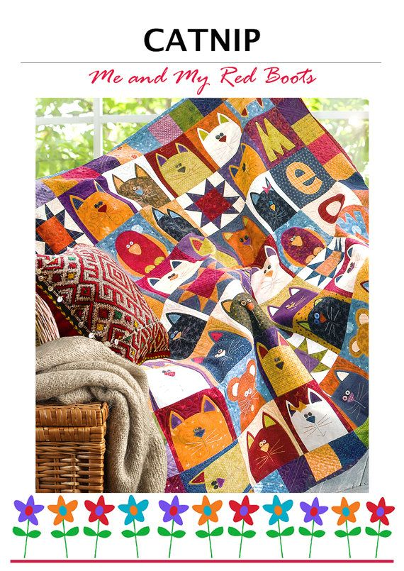 CATNIP PDF Cat Quilt Pattern by TheRedBootQuiltCo on Etsy