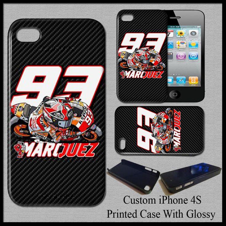 Hot Marc Marquez MM93 MotoGp Champion Repsol Honda Team Cover Case For iPhone 4s