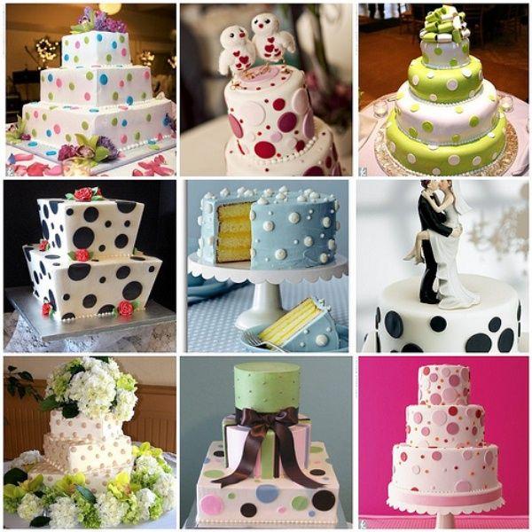 Свадьба в горошек - идеи для свадьбы в горошек - свадебный торт в горошек