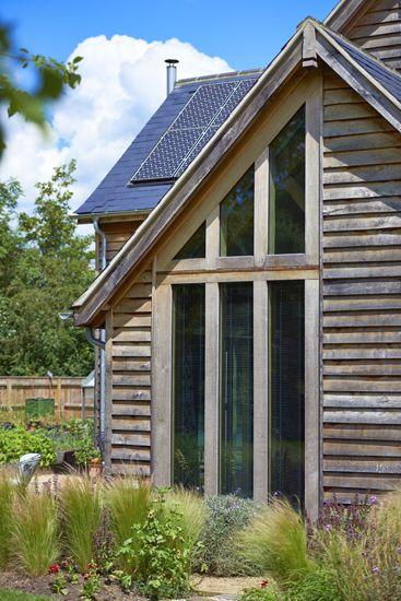 Weathered oak weatherboard.