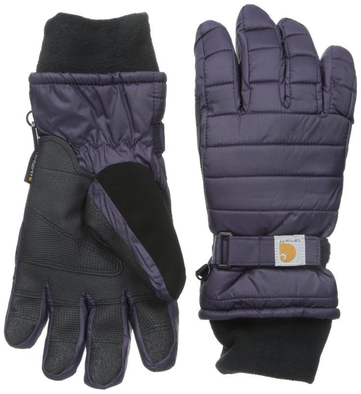 Carhartt Women's Quilts Insulated Glove with Waterproof Wicking Insert, Nightshade, Medium