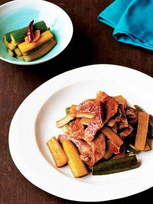 【ELLE a table】漬けないきゅうりの即席漬け、カルビの辛味炒めレシピ|エル・オンライン