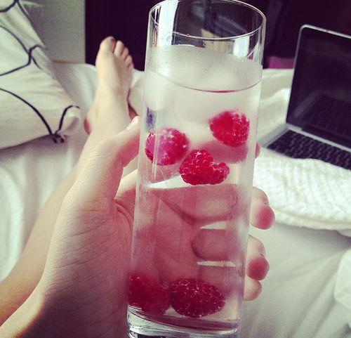 Raspberry water ♡