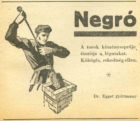 Negro cukorka reklám 1948. (A chimney sweeper)