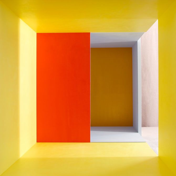 """Erin O'Keefe - Empty (Yellow Grey Gold Red Aberration) (2011) archival pigment print, 22.5"""" x 22.5"""""""