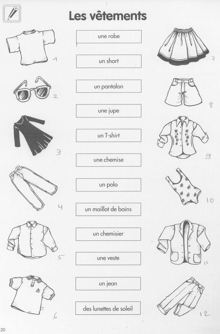Les vêtements. exercice