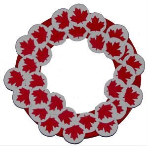 Maybe just print maple leaves onto red construction paper and cut them out for the children to glue onto paper plate wreaths