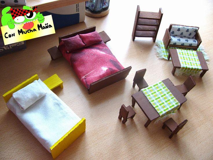 Resultado de imagen para muebles para maquetas hechos a mano