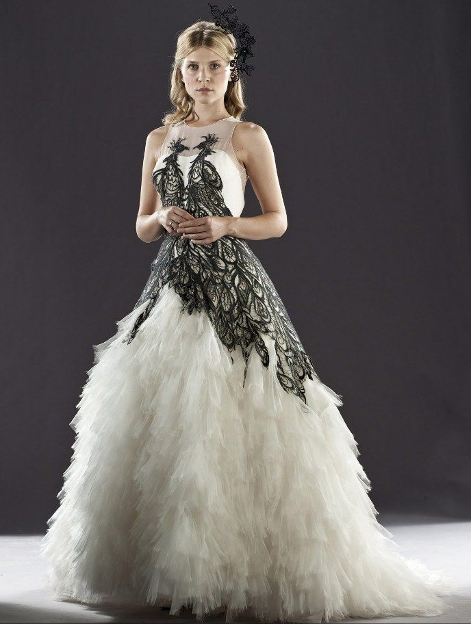 Fleur's wedding dress! Inspired by phoenixes and witch dresses. Cool, huh?