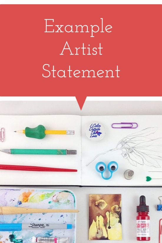 Artist Statement examples that are pretty down to earth, (as in not - new 8 copyright statement example