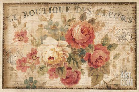 Parisian Flowers III Print