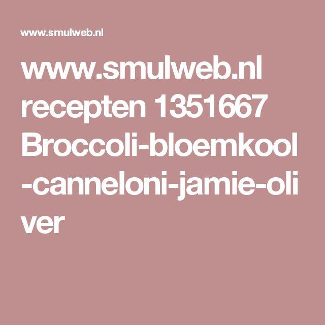 www.smulweb.nl recepten 1351667 Broccoli-bloemkool-canneloni-jamie-oliver