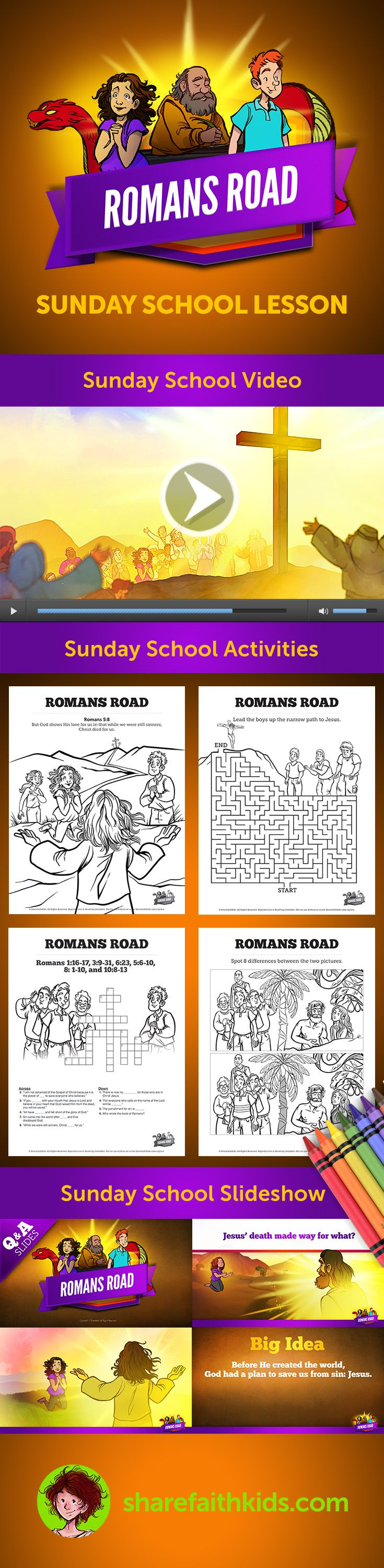 Coloring pages for preschoolers on salavation - Romans Road Book Of Romans The Romans Road Is A Wonderful Way To Explain The Good News Of Salvation Using Key Verses From The Book Of Romans