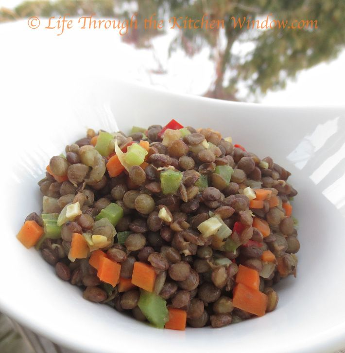 Braised Lentils | © Life Through the Kitchen Window.com