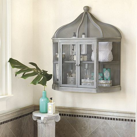 Aviary Birdcage Decorative Shelf By Ballard Designs Gray