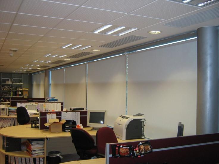 Industrial screen performance roller blinds offices Natco Foods Ltd Buckingham