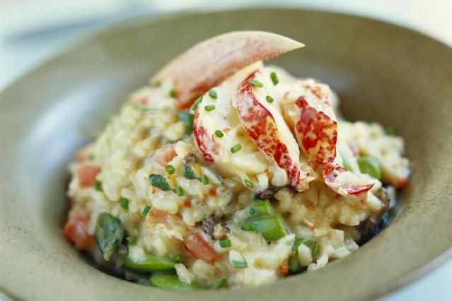 This is a recipe for lobster risotto from Sardinia, an island off the coast of mainland Italy. This lobster risotto is rich with lobster stock and a pinch of saffron. Either spiny or New England lobsters will work with this risotto recipe.