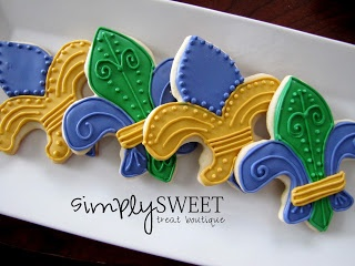 SimplySweet Treat Boutique: Mardi Gras Cookies