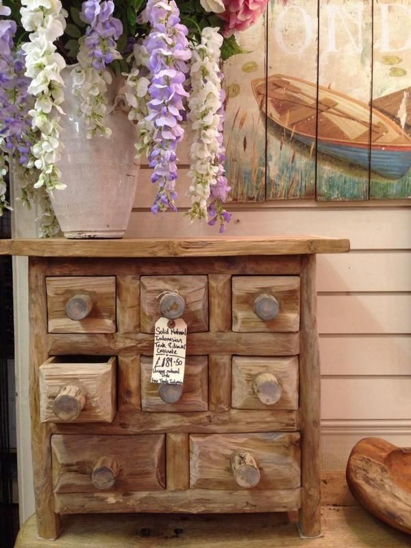 Our recycled teak chest of drawers, handmade in Indonesia, she is a thing of beauty!