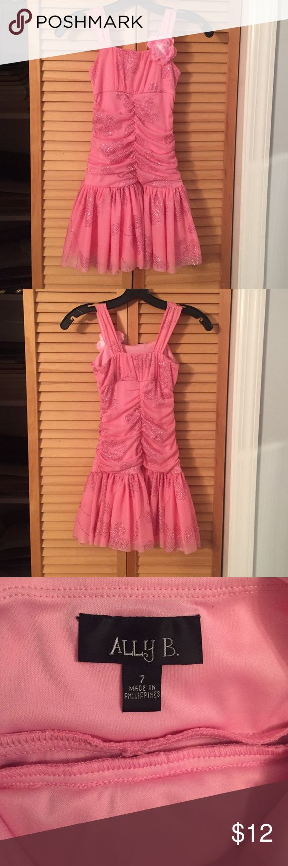 💖Beautiful Ally B. Pink sparkly dress! 💖 Beautiful sparkly dress. Barely noticeable stains at the bottom of the skirt as show in the last photograph. Ally B. Dresses Formal