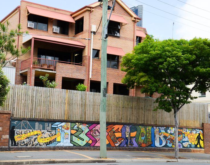Wall in Brisbane, Queensland