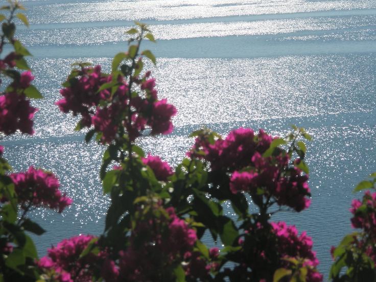 View from a terrace in Villa Magemenou, Lefkada, Greece