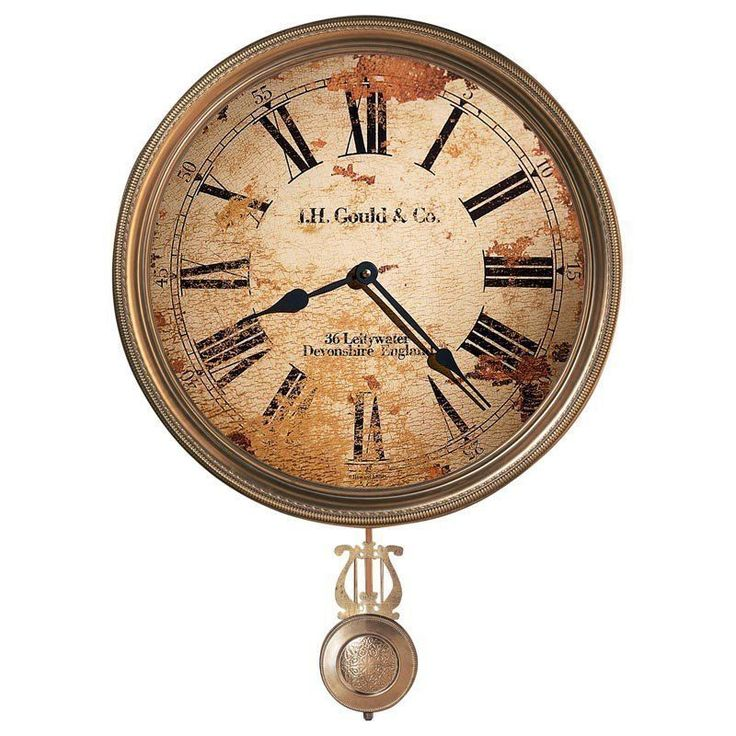 """Vintage Wall Clock with Pendulum 15"""" Antique Rustic Retro Home Decoration Shabby #HowardMiller #AntiqueStyle"""