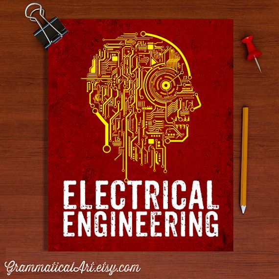 Classroom Decor Etsy ~ Electrical engineer poster engineering circuit board