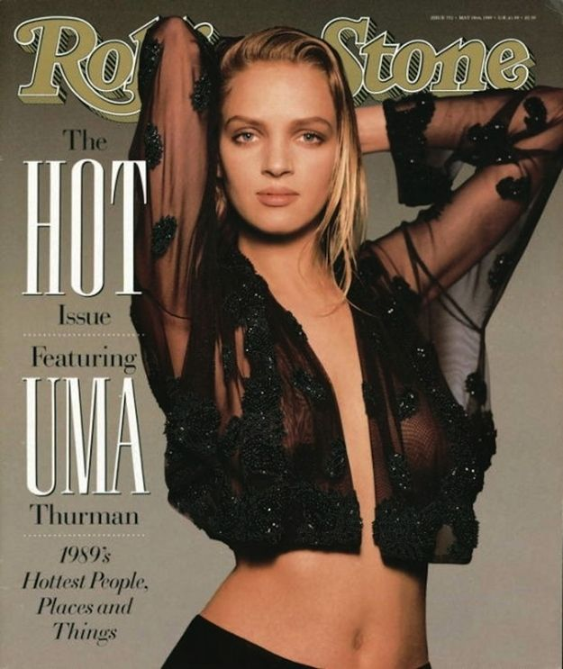 Uma Thurman (1989) | The 25 Sexiest Rolling Stone Covers Of All Time