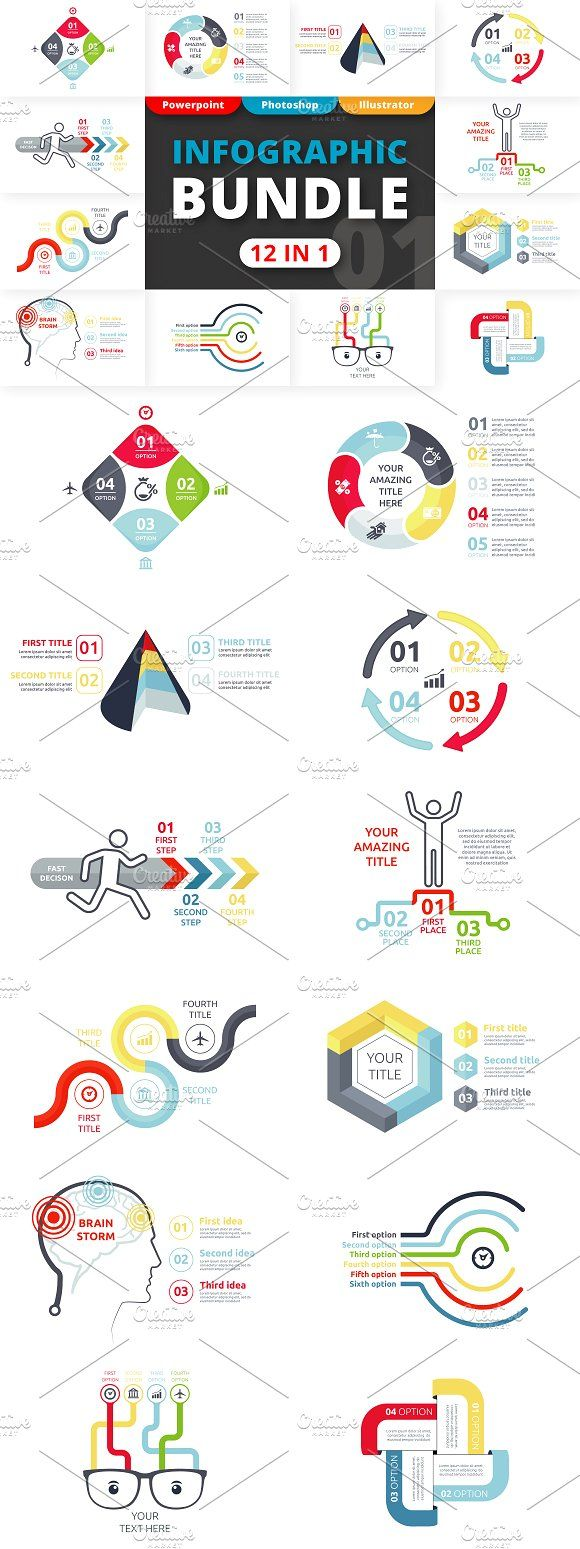 Flexible Infographic Bundle by Infographic Paradise on @creativemarket