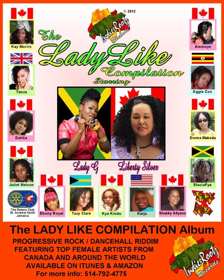 The LadyLike Compilation on ITunes and Amazon. Totally voiced by soulful, inspirational women. Riddim: Lady by SuperTramp
