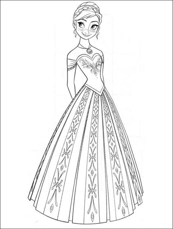 anna from frozen coloring pages 35 FREE Disney's Frozen