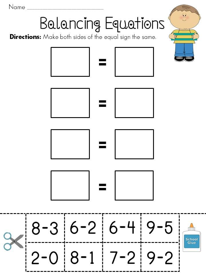 Best Math  Balancing Equations Images On   Teaching