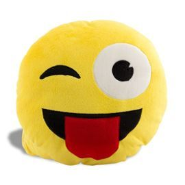 Coussin Emoji Smiley Clin D'Oeil #Emoji #Insolite #ObjetInsolite #Coussin