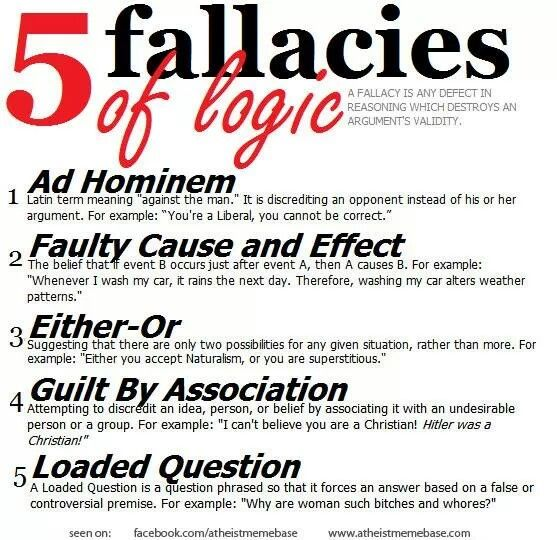 46 Best Logical Fallacies Images On Pinterest Logical Fallacies