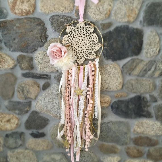 Capteur de rêves Nursery décor décor de fête rose par luxieblooms