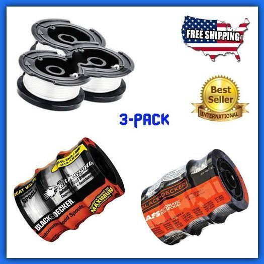 Black Decker Trimmer String Line 3-Pack Replacement Parts Garden Power Tool 30ft #BlackDecker