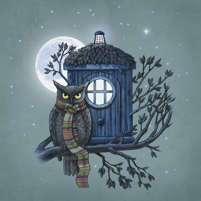 My favorite Doctor Who artwork. It's by Terry Fan. I love his work!